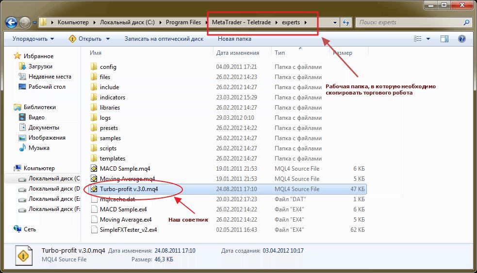 Как установить форекс-советника в торговом терминале MetaTrader 4