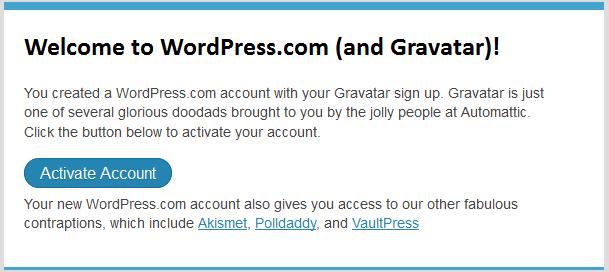 активация граватара